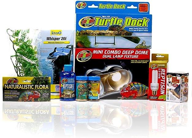 Amazon Com Ug Pet Supply 10 Gallon Baby Turtle Complete Setup Kit Pet Supplies