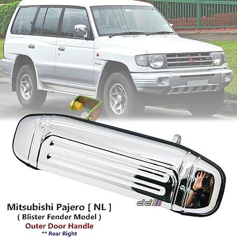 Cromo Trasero Derecho Exterior Manija de puerta para Mitsubishi Pajero Montero NL 1997 – 99