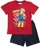 Feuerwehrmann Sam Kollektion 2017 Schlafanzug 92 98 104 110 116 122 128 Pyjama Shortie Shorty Fireman Sam Jungen Neu Rot-Blau