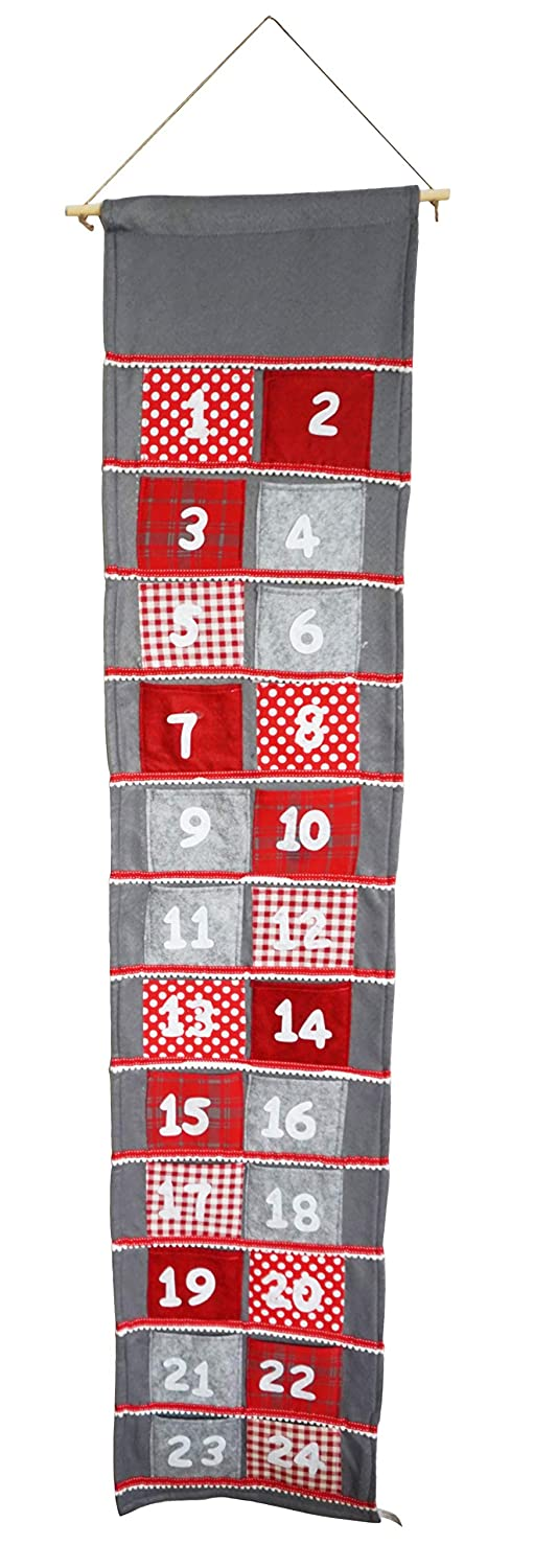 khevga 65 inches XXL Advent Calendar with Large Pockets DIY to Fill up Fill Yourself for Adults and Children
