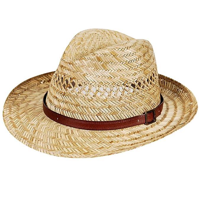 Sommerhut Sonnenhut Hautfreundlich /& Bequem Besonders Leicht Strohhut Handgeflochten aus 100/% Stroh Bogart Natur Flexibel