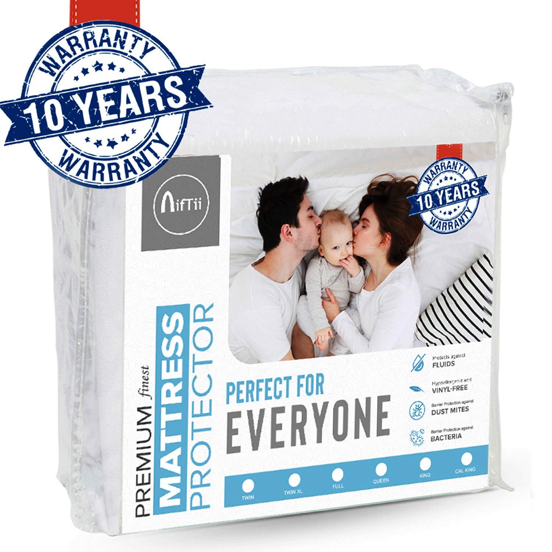 NifTii Queen Size Premium Finest Mattress Protector Waterproof - Hypoallergenic – Vinyl Free –– Breathable – Cooling