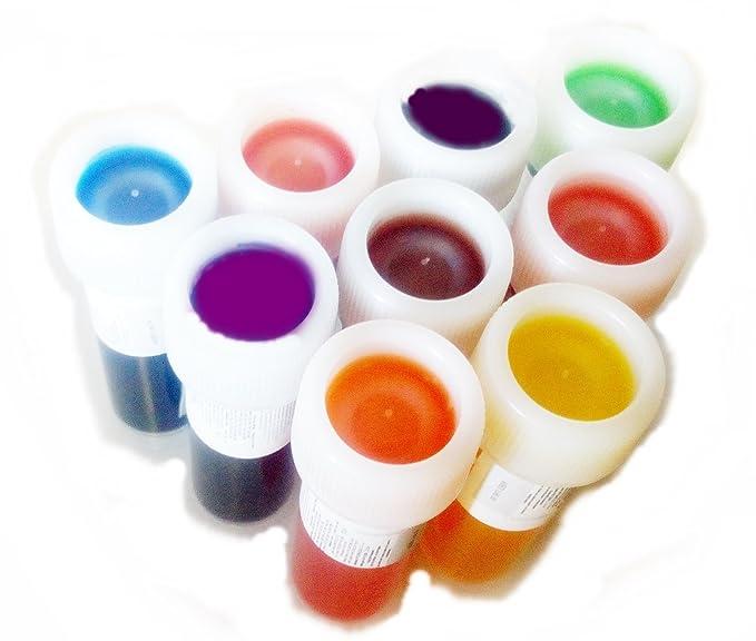 colores de alimentos de gel en súper set de 9 unidades: Amazon.es ...