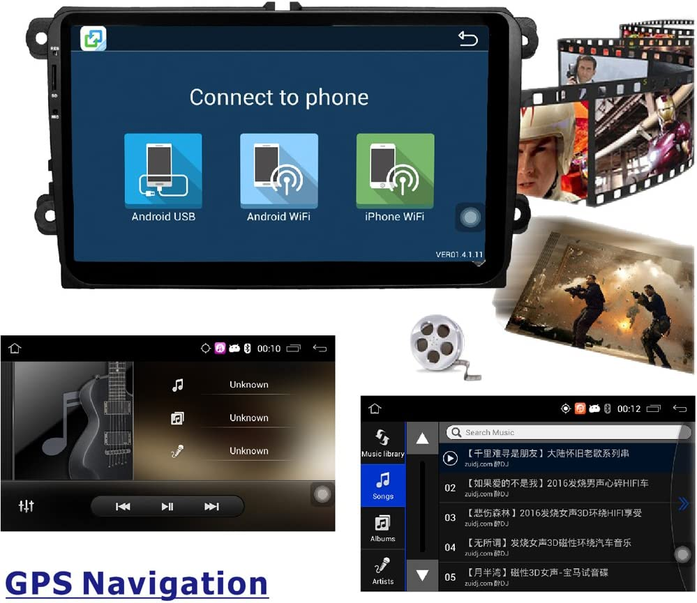 ancluu 9 pulgadas 2 Din Android Quad Core DVD para coche para ...