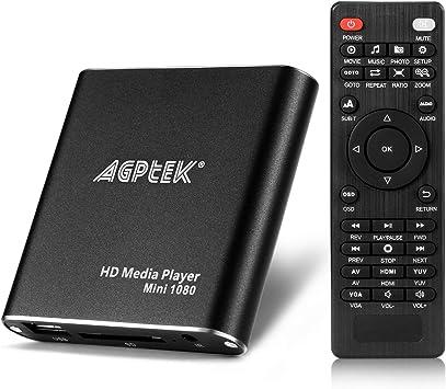 Mini HDMI Media Player 1080P HDD RM RMVB DIVX AVI MKV USB SD MPEG JPEG MOV SDHC