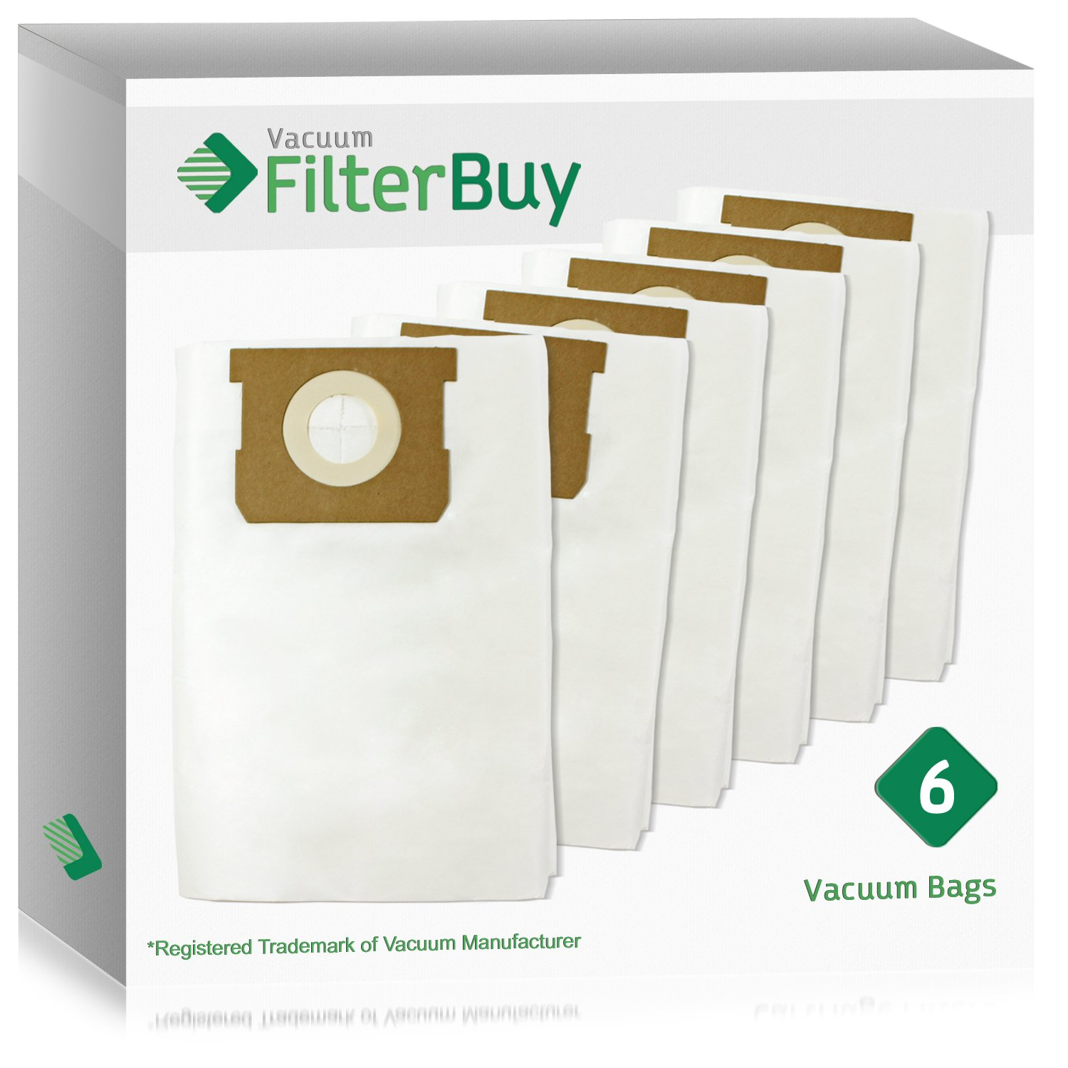 6 - FilterBuy VacMaster Compatible Dust Bags. Designed by FilterBuy to fit VacMaster & Shop-Vac Vacuum Cleaners.