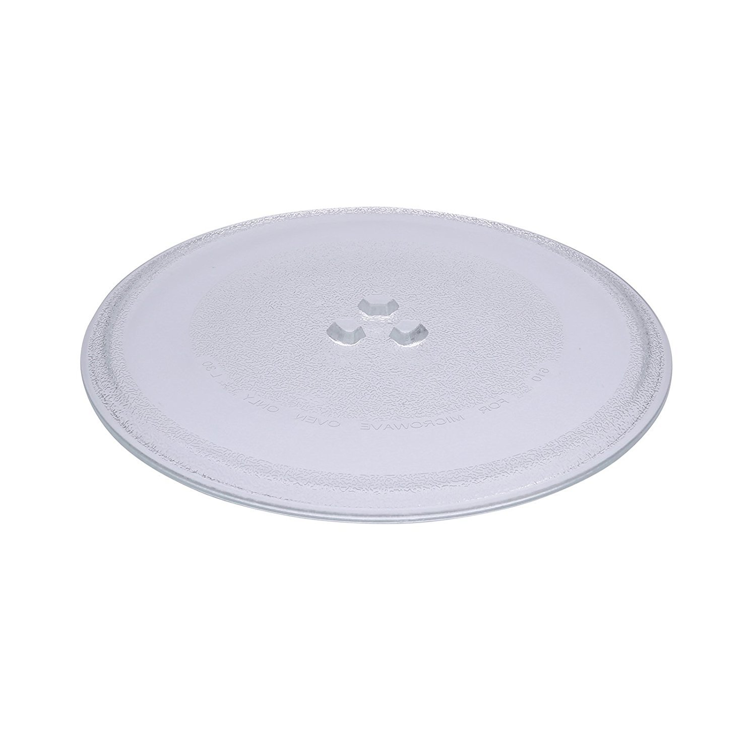 First4Spares Premium Universal Replacement Glass 3 Lug Turntable Plate for Microwaves - (255mm Diameter)