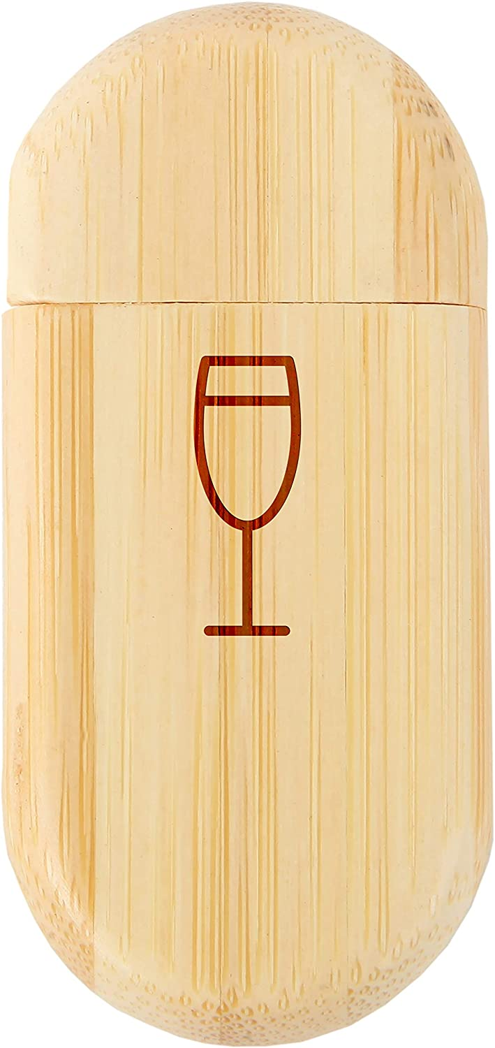 Wood Flash Drive with Laser Engraving Champagne Glass 8Gb Bamboo USB Flash Drive with Rounded Corners 8Gb USB Gift for All Occasions