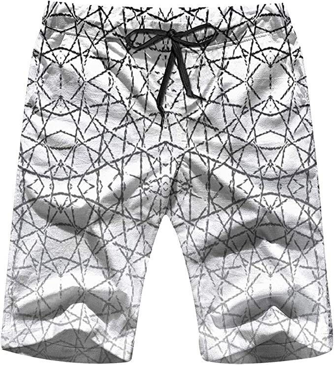 Men Board Shorts Swim Trunks 3D Abstract Quick Dry Surfing Beach Summer Outfit Pants