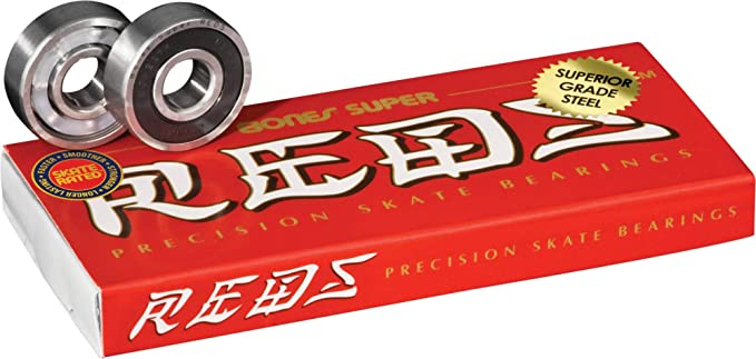 Bones Super Reds Skateboard Bearings 8 Pack BSACSR88