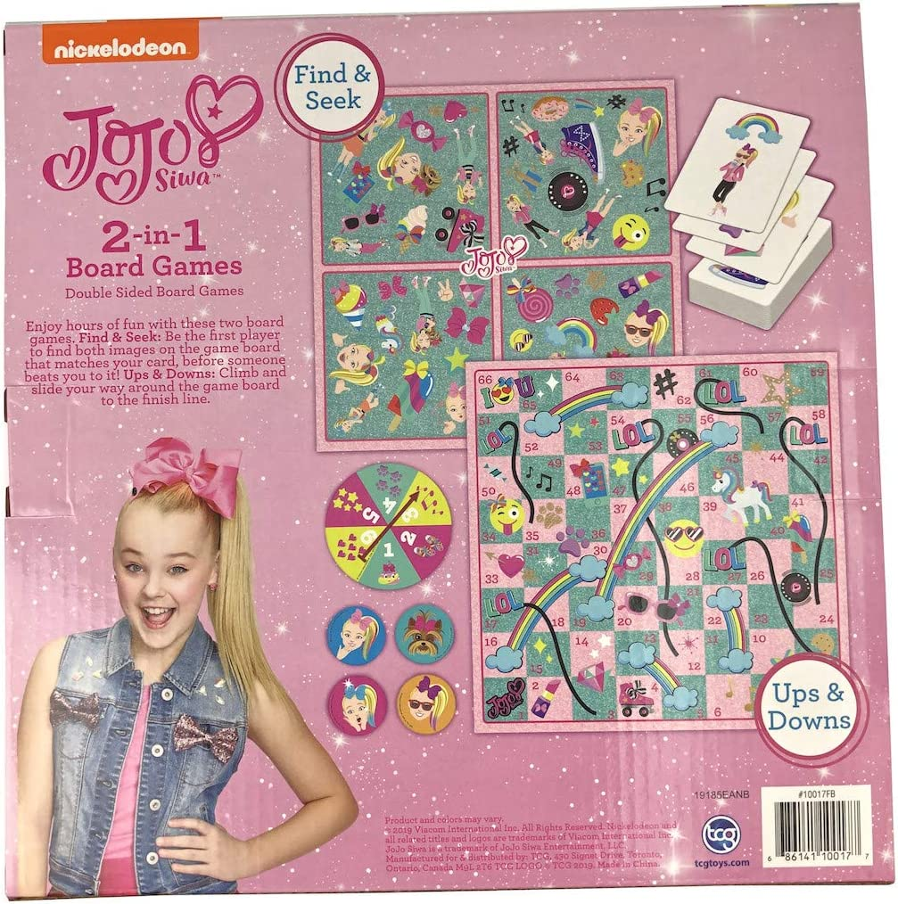 TCG Toys JoJo Siwa 2 in 1 Board Game Multi