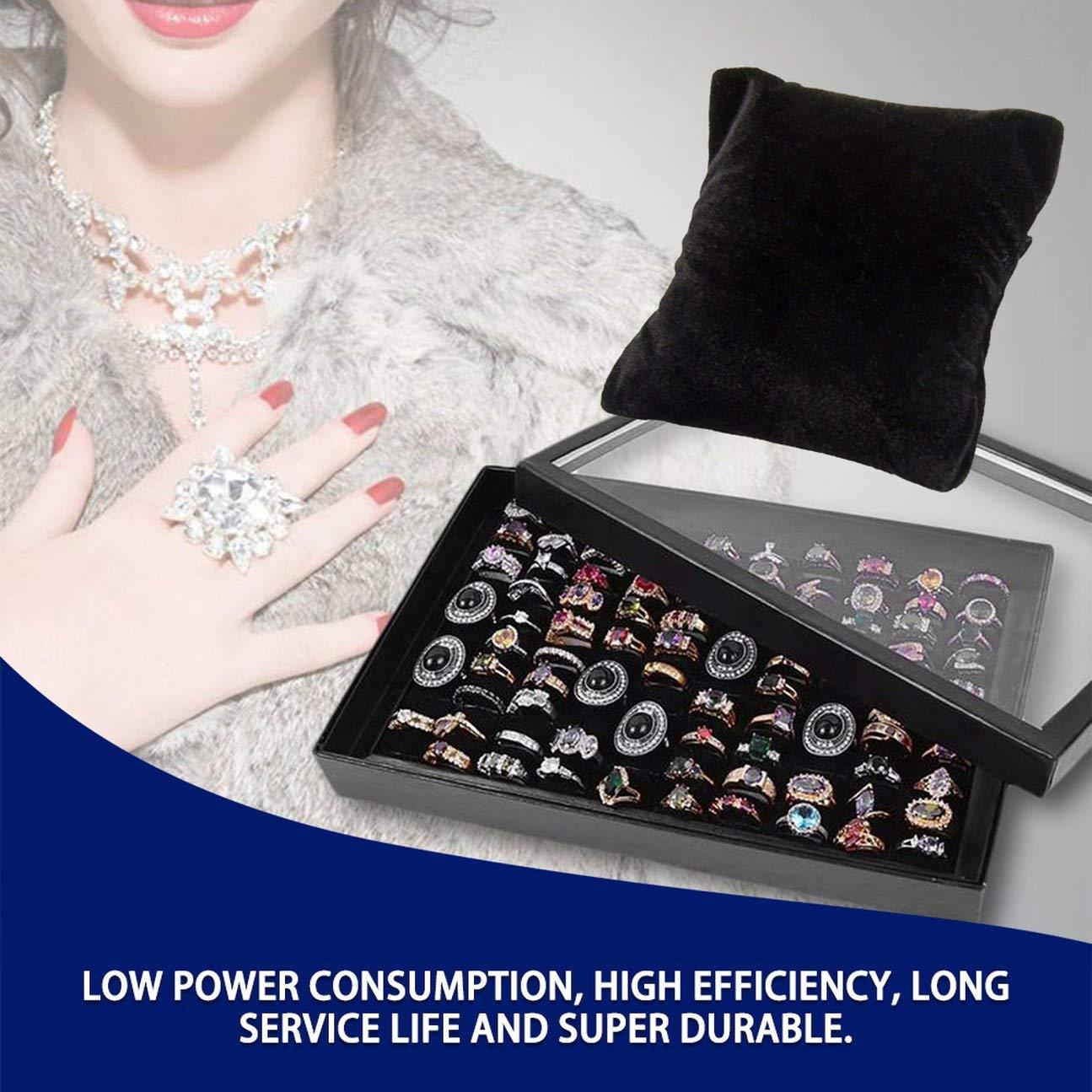 HIPENGYANBAIHU /Éponge Petit Oreiller pour Bracelet Affichage Montre Affichage Bijoux Affichage Bijoux Accessoires 5pcs Petit Coussin Couleur: Noir