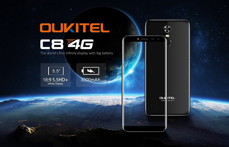 OUKITEL C8 4G - 5,5 Pulgadas (18: 9 relación visión Completa ...
