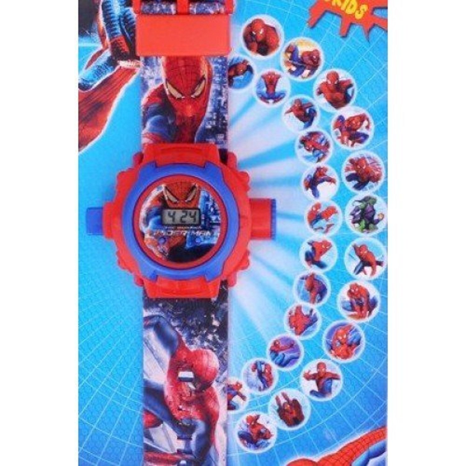 Amazon.com: Pappi-Haunt - Quality Assured - Kids Special Toys - Pack of 2 - Spiderman Projector Band Watch + Jelly Slim Black Digital Led Band Watch for Kids ...