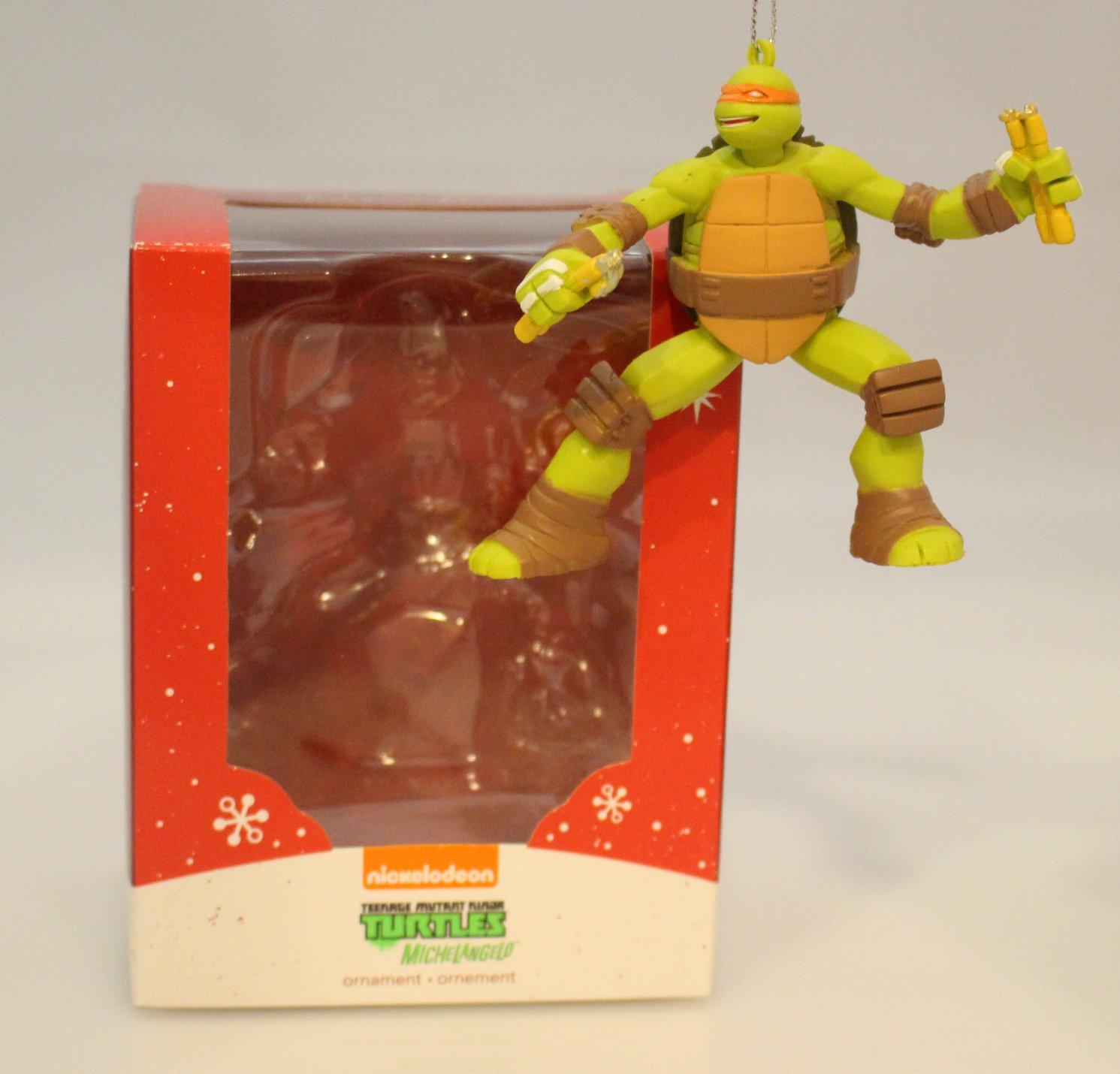 1 X Teenage Mutant Ninja Turtles Michelangelo 2014 Carlton Heirloom Ornament