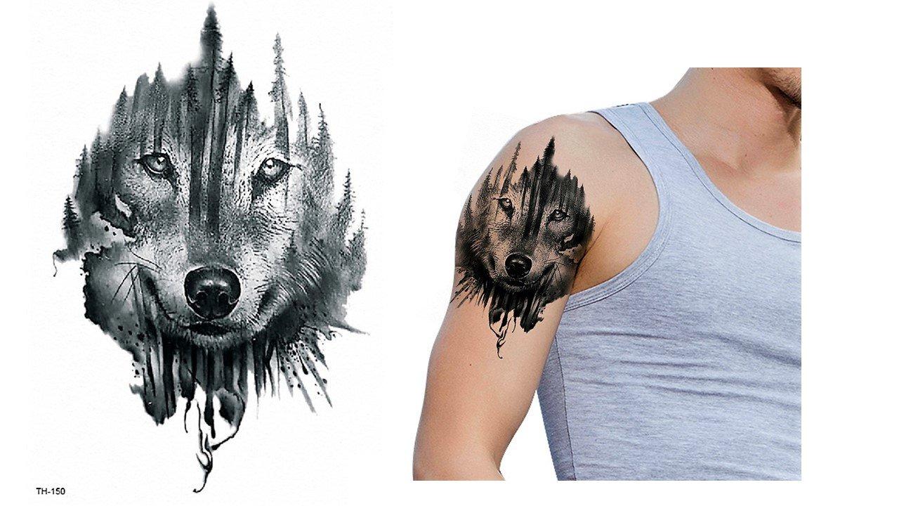 WOLF Tattoo TH-150 WOLF ausdruckvolles Tattoo: Amazon.de: Beauty