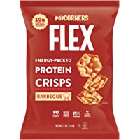 PopCorners Flex Barbecue Vegan Protein Crisps | Plant-Based Protein, Gluten Free Snacks | (12-Pack, 5 oz Snack Bags)