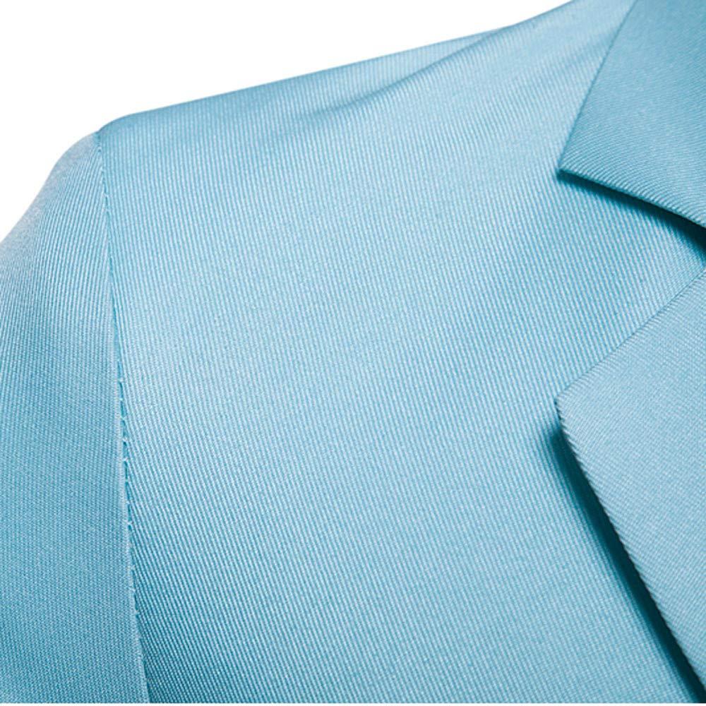 PASATO New Mens Job Market Casual Pocket Button Jacket Long Sleeve Business Suit Coat Top