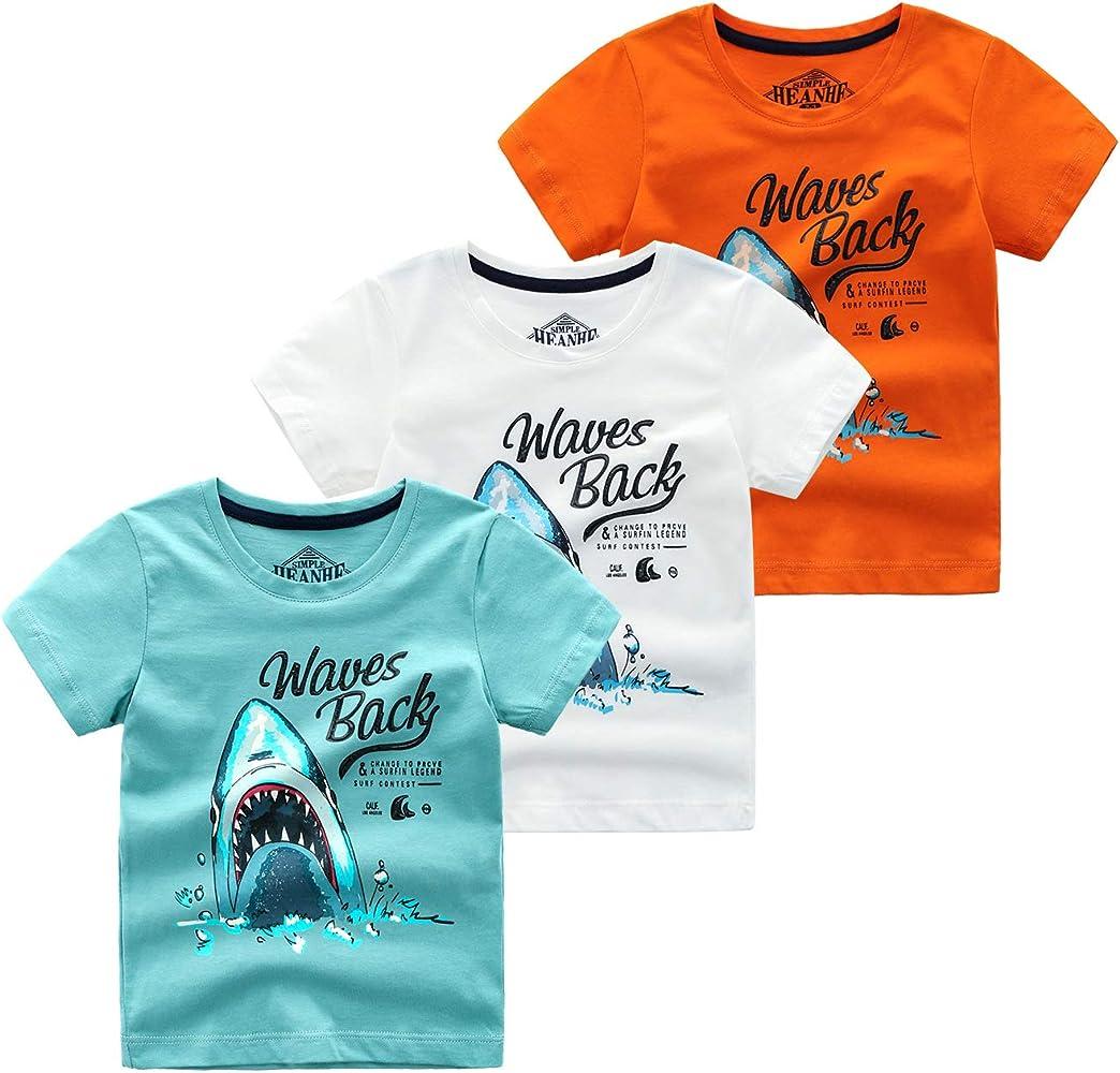 Yitamn 3 Pack de Camiseta de Piel de algodón para niños, Camiseta ...