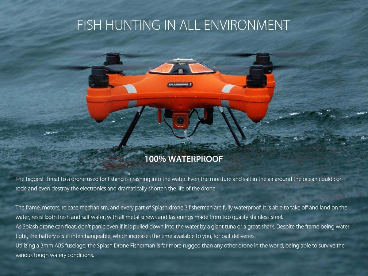 7ec69497be6 Splash Drone Fisherman Version with one set propeller: Amazon.co.uk: Camera  & Photo