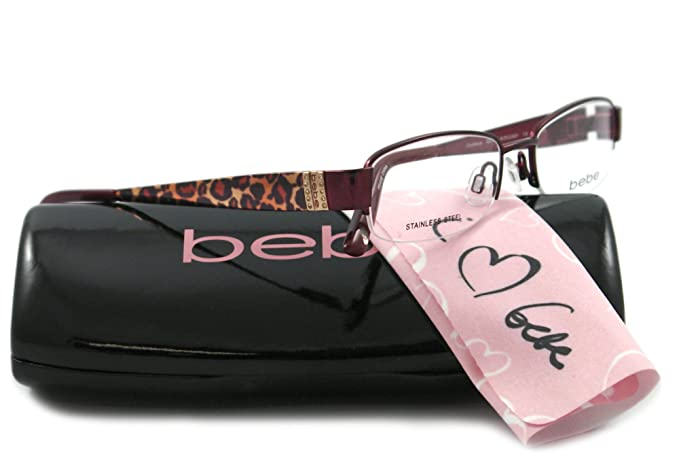 561ede18b787 Image Unavailable. Image not available for. Colour  Bebe Eyeglasses BB 5028  BURGUNDY 002 BURGUNDY COURTEOUS
