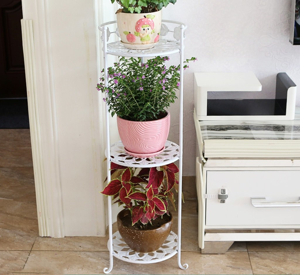 Flower Stand Stand Flower Stand in Ferro battuto Stand per Piante Balcone Living Room Simple Flower Pot Rack 3 Large Dimensione (colore   B)