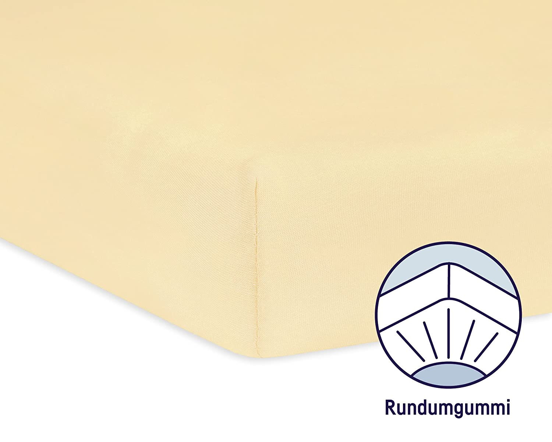 Farbe: banana Spannbetttuch Jersey f/ür das Kinderbett Julius Z/öllner 8320147760 Gr/ö/ße: 60x120 // 70x140 cm