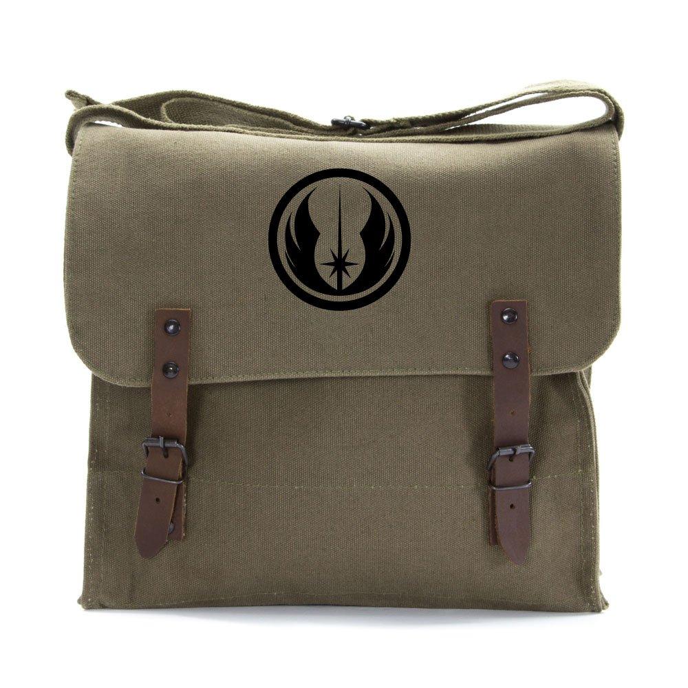 Jedi Order Army Heavyweight Canvas Medic Shoulder Bag, Olive & Black