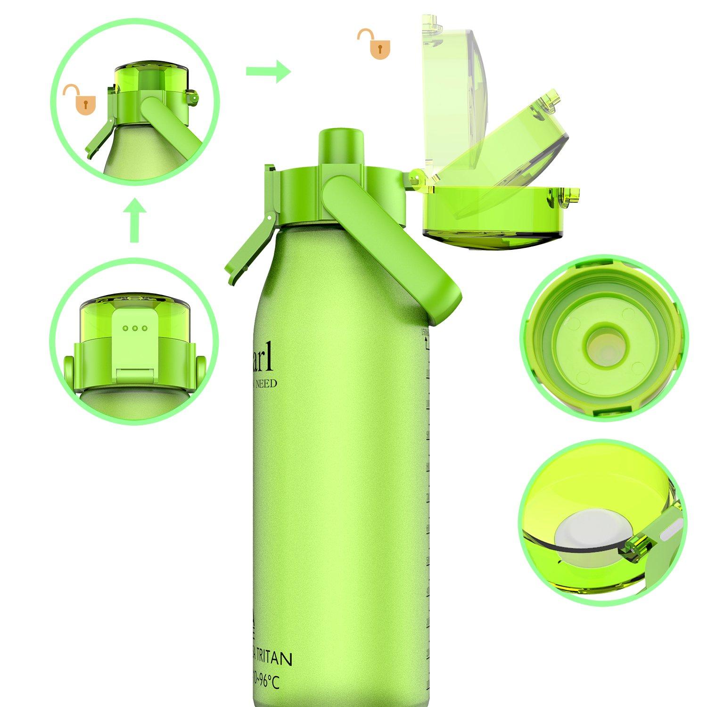 FDA Approved 32oz//1L/&50oz//1.5L,Tritan, GITKARL Best Sports Water Bottle BPA Free