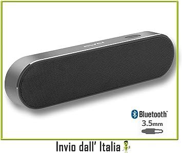 Difusor de audio Bluetooth portátil, recargable, entrada AUX, manos ...