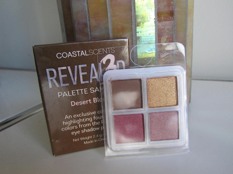 Coastal Scents Revealed 3 Palette Sampler, Desert Bloom, 4 Eyeshadows