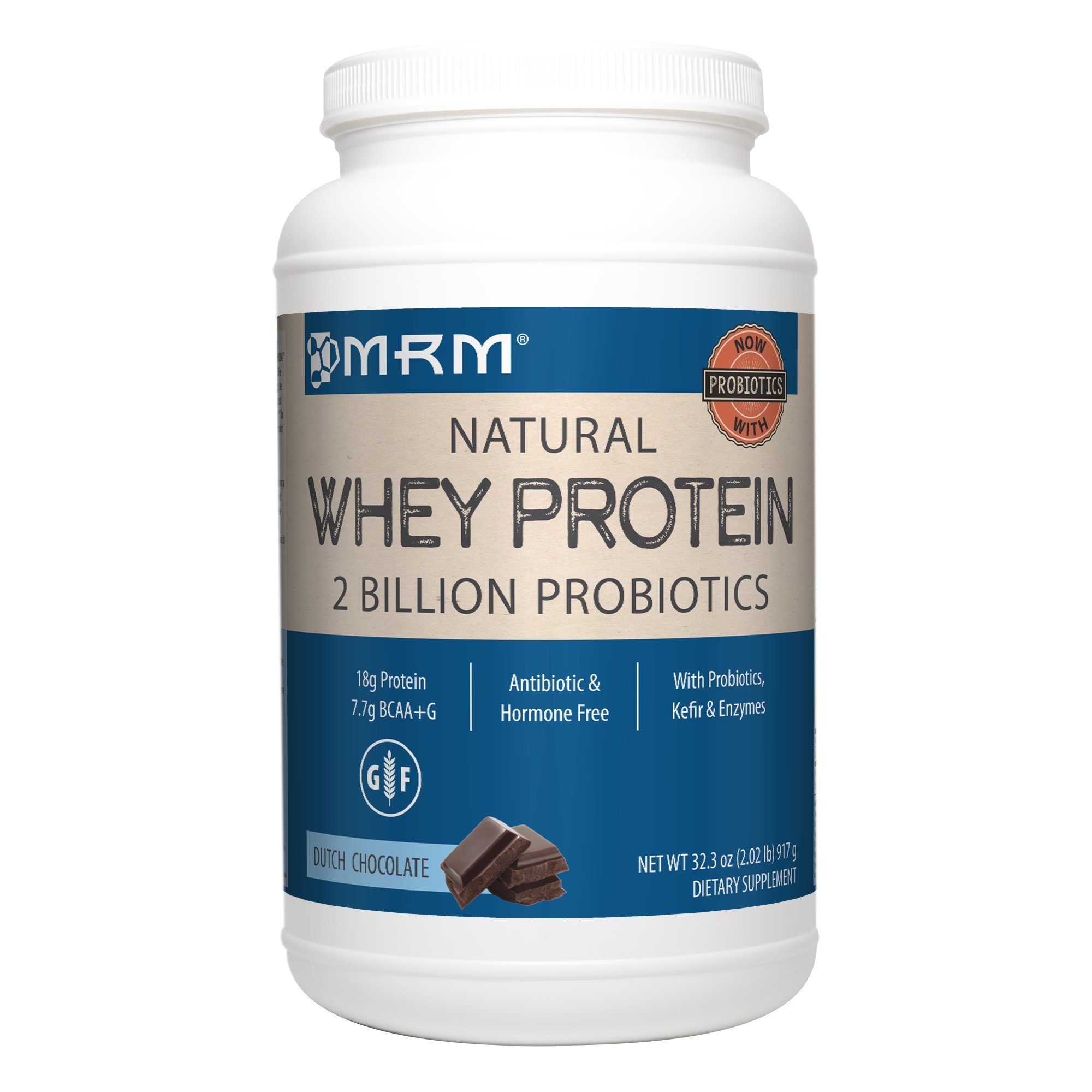 MRM - All Natural Whey Protein Powder, With Essential Amino Acids, BCAAs & Glutamine for Maximum Muscle Growth & Development (Dutch Chocolate), 32 Ounce (Packaging May Vary) by MRM (Image #1)