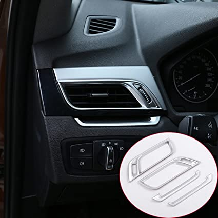 Accesorios car-styling ABS cromado mate lado aire acondicionado Vent Cover Trim 4pcs/set: Amazon.es: Coche y moto