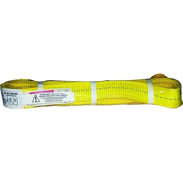2 in W X 6 Ft L S-Line by Ancra 20-EE2-9802X6 S-Line Eye Twisted Web Lifting Sling 6 Loop End 2-Ply