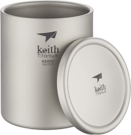 Shipped from USA Keith Titanium Ti3306 Double-Wall Mug 20.3 fl oz