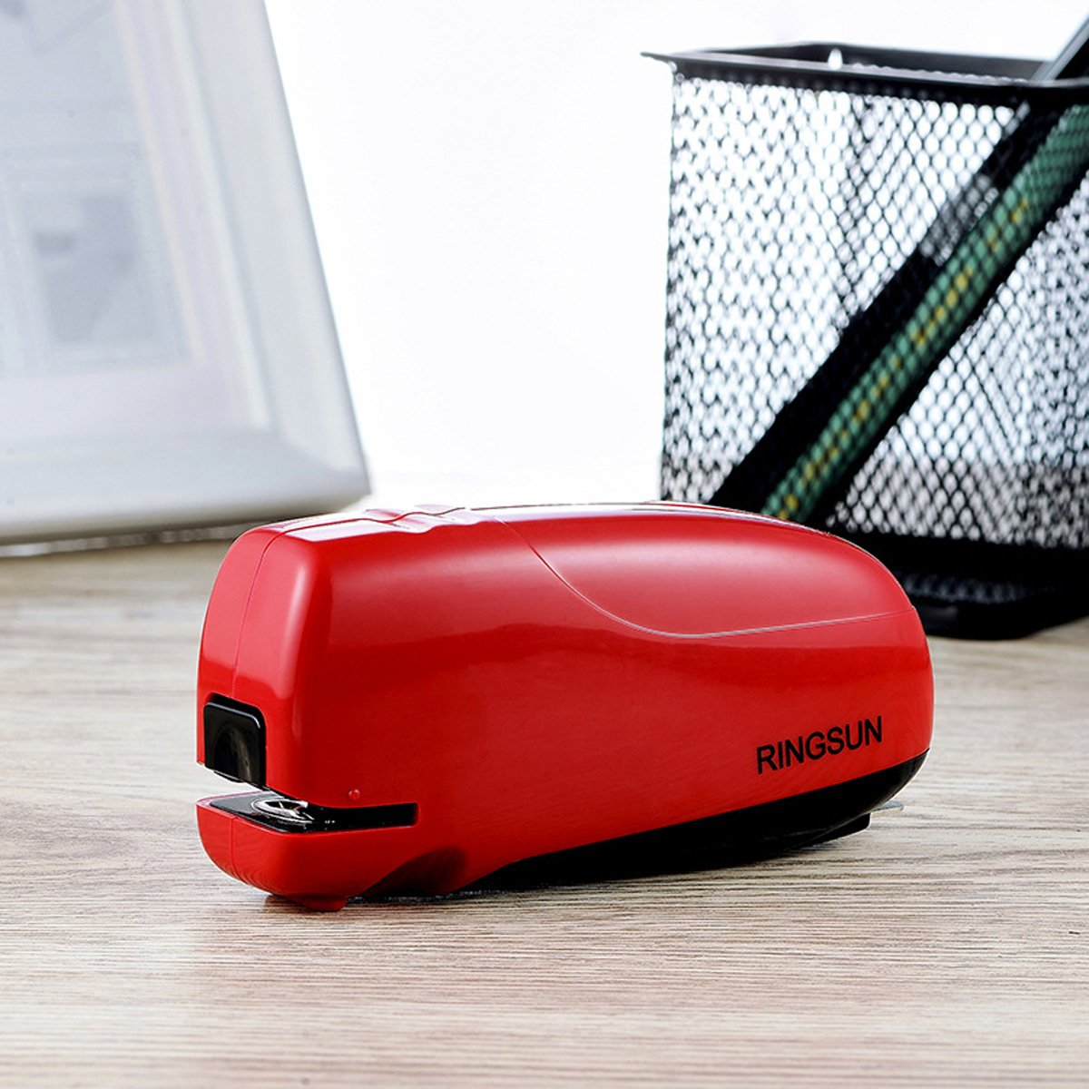 RINGSUN Electric Stapler Automatic 10 Sheets Capacity AC USB Power Or Battery Office School Home Use by RINGSUN (Image #4)