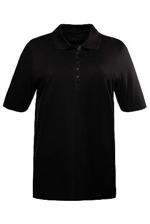 Ulla Popken Womens Polopiquee Longsleeve T-Shirt