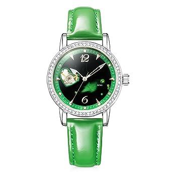 bdb682b0ffc9 Time100 W80050L - Reloj curazo de horóscopo para mujeres correa de piel  genuino color claro  Amazon.es  Relojes