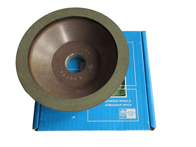 10mm. Type: 12A2-20 Dish Diamond Grinding Wheel Width: 0.4 150mm. Dia 6 100//80 Micron = 180 Grit Hole 1.26 32mm.