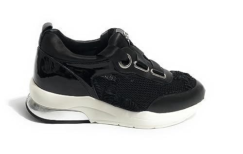 Liu Jo Jeans Zapatillas para Mujer Negro Negro: Amazon.es: Zapatos y complementos