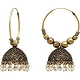 Jaipur Mart Gold Plated Alloy Oxidized Earrings For Women And Girls (1 Pair) (Gse814P)