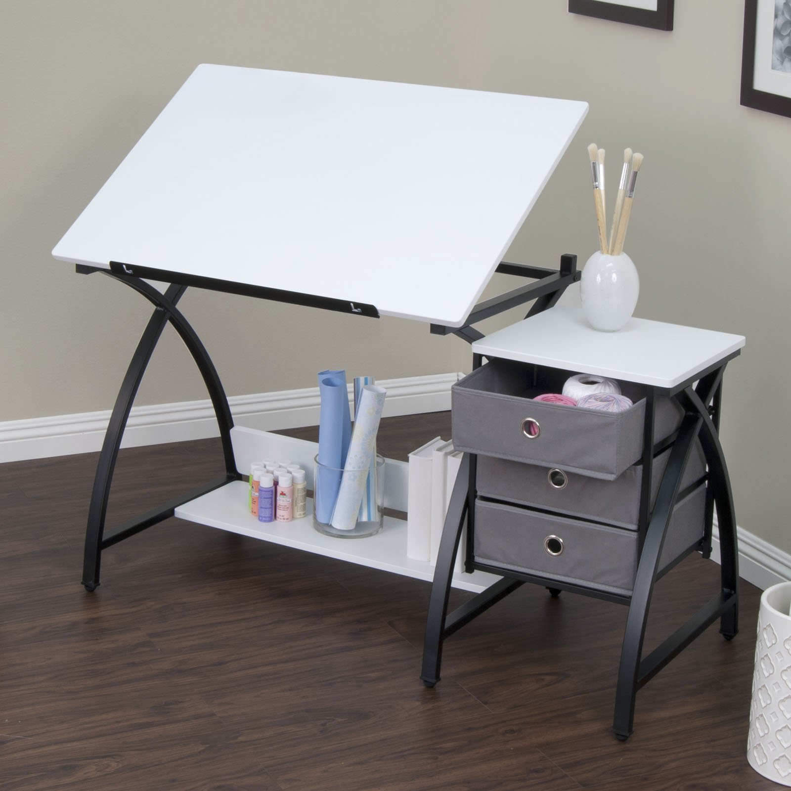Studio Designs 13326 Comet Center with Stool, Black/White by SD STUDIO DESIGNS (Image #3)