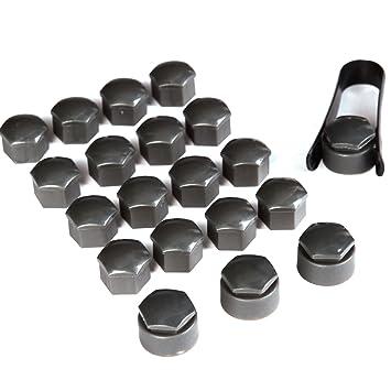 surepromise - 4 pernos (antirrobo, 17 mm) y 16 tuercas (forma normal, 17 mm) para neumáticos de llanta de carbono: Amazon.es: Coche y moto