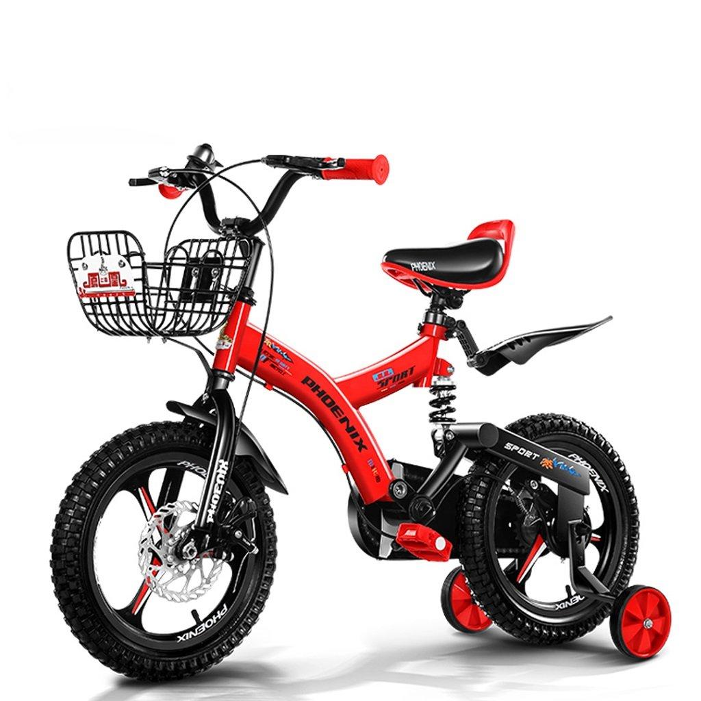 子供用自転車、3-8歳の男の子用自転車、ディスクブレーキ (Color : Red, Size : 16 inch) B07CZHSV76