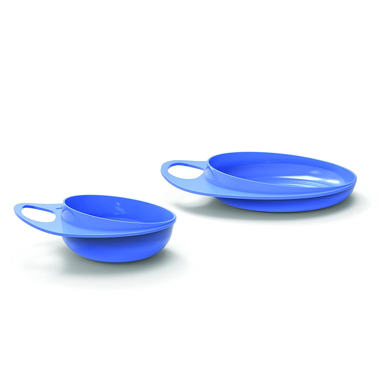 Baby Feeding Meal Set: Bowl /& Saucer Baby Training Tableware Feeding Bowl Anti Spill-Ideal for baby 1st meals EU Brand//Italian design Ultra Hygienic Nuvita 8461 EasyEating Weaning Kit Green