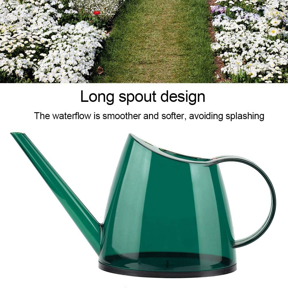 1.2L Watering Can Eco-Friendly Green Garden Watering Can Fashionable Flower Sprayer PP Small Watering Can forIndoor Plants Long-Spout Candy-Colored Watering Can