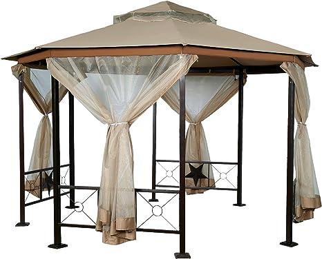 Homevibes - Toldo Octogonal de Techo para Patio y Exterior con mosquitera: Amazon.es: Jardín