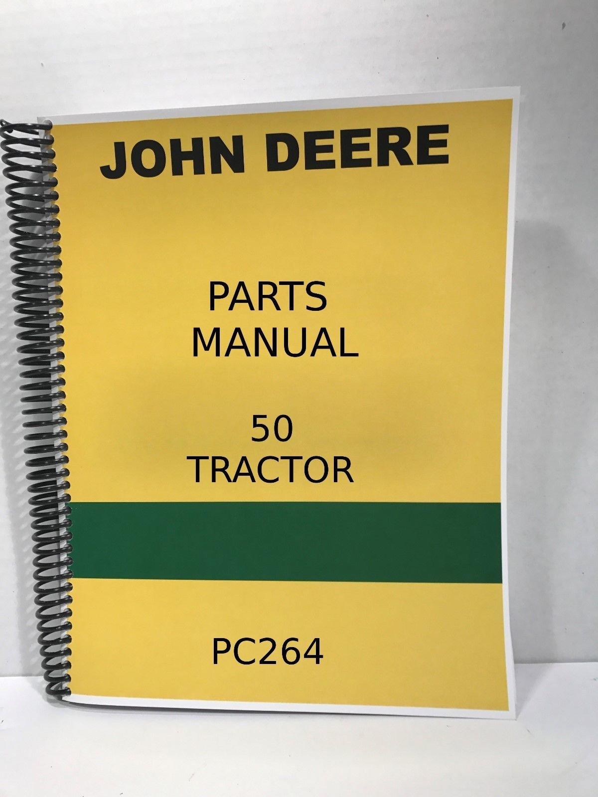 Download John Deere Model 50 Tractor Parts Manual Catalog PDF