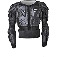 TDRMOTO Kids/Children/Boy/Girl/Teenager/Junior/Youth Black Motorcycle Full Body Suit Jacket Riding Protection Armour Armor Jacket Guard Motocross Peewee Gear MX BMX Sport Off-Road Racing Clothing ATV Quad Dirt Bike with Back Chest Shoulder Protection Kid's Small/Medium/Large Sizes (Kid Large)