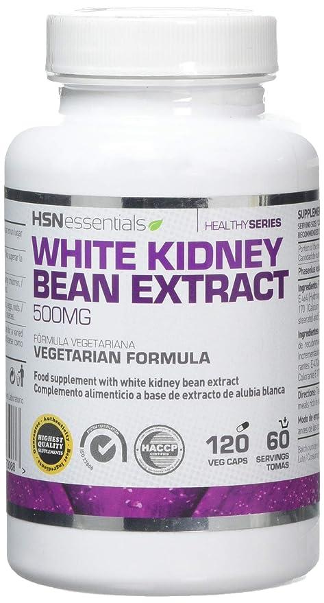 Extracto de Alubia Blanca de HSN Essentials- 500mg - Bloqueador de Carbohidratos y de grasas